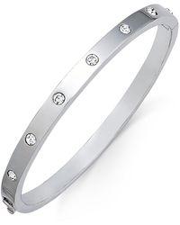 Kate Spade - Bezel-set Polished Bangle Bracelet - Lyst