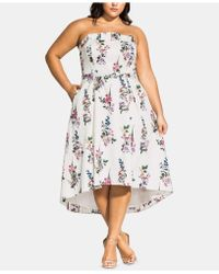City Chic Trendy Plus Size Sweet Floral Bouquet Dress - Multicolor