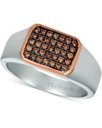 Le Vian Diamond Ring (1/3 Ct. T.w.) In Sterling Silver & 14k Rose Gold - Metallic