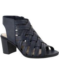 Easy Street Angel Block Heeled Sandals - Blue