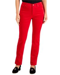 Charter Club Lexington Corduroy Tummy-control Pants, Created For Macy's - Red