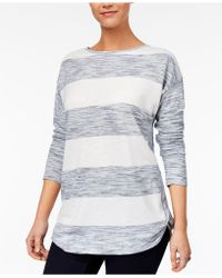 Style & Co. | Petite Striped Space-dyed Top | Lyst