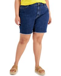 Style & Co. Cheeky Raw-hem Bermuda Shorts, Created For Macy's - Blue