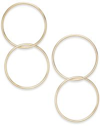 INC International Concepts | Gold-tone Double-hoop Drop Earrings | Lyst