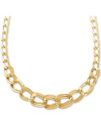 """Macy's - Graduated Link 18"""" Statement Necklace In 14k Gold - Lyst"""