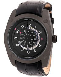 Heritor - Automatic Daniels Black Leather Watches 43mm - Lyst