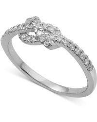Macy's - Diamond Knot Band (1/4 Ct. T.w.) In 14k Rose, Yellow Or White Gold - Lyst