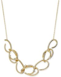 """Danori - Gold-tone Pavé Link Statement Necklace, 16"""" + 2"""" Extender, Created For Macy's - Lyst"""
