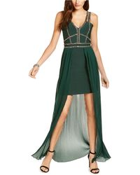 Marciano Beaded High-low Bandage Gown - Green