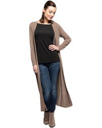 Yala Designs - Yala Brooke Duster Style Viscose From Bamboo Lightweight Long Knit Cardigan - Lyst