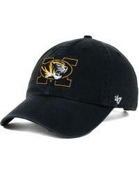 47 Brand - Missouri Tigers Ncaa Clean-up Cap - Lyst