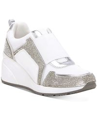 INC International Concepts Heily Stretch Wedge Sneakers, Created For Macy's - Metallic
