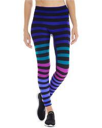 K-DEER Izzy Stripe 7/8 Sneaker-length Leggings - Blue