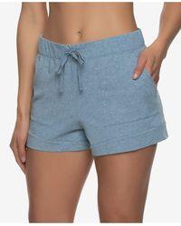 Felina Organic Cotton Loungewear Shorts - Blue