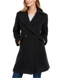 Anne Klein Double-breasted Coat - Black