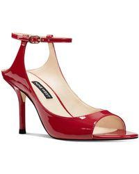 Nine West Olena Peep-toe Pumps - Red
