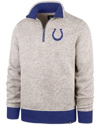 47 Brand - Indianapolis Colts Kodiak Quarter-zip Pullover - Lyst
