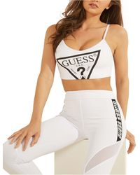 Guess Logo Active Bralette - White