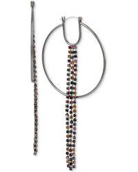 BCBGeneration - Bcbg Hoop & Crystal Fringe Drop Earrings - Lyst