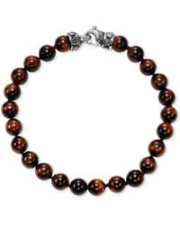 Scott Kay - Men's Onyx (8mm) Bead Link Bracelet In Sterling Silver, (also In Red Tiger's Eye) - Lyst