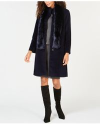 Jones New York - Walker Coat With Faux-fur Scarf - Lyst