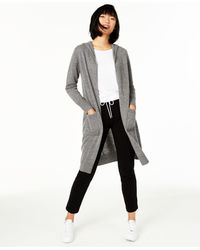 Charter Club Cashmere Hooded Duster Sweater, Created For Macy's - Gray