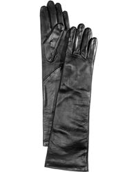Charter Club Long Leather Tech Gloves - Multicolor