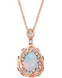 """Le Vian - ® Neopolitan Opal (1 Ct. T.w.) & Diamond (1/2 Ct. T.w.) 20"""" Pendant Necklace In 14k Rose Gold - Lyst"""