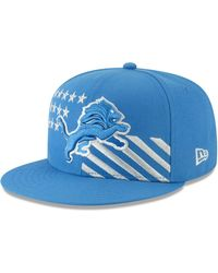 newest eedd1 802c8 KTZ Detroit Lions Salute To Service 59fifty Cap in Blue for Men - Lyst