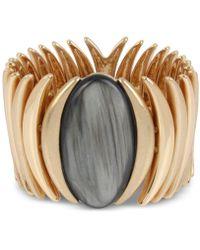Robert Lee Morris - Gold-tone Oval Stone Stretch Bracelet - Lyst