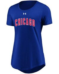 Under Armour - Chicago Cubs Team Font Scoop T-shirt - Lyst