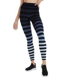 K-DEER Striped 7/8-sneaker-length Leggings - Blue