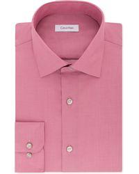 Calvin Klein - Classic-fit Non-iron Performance Herringbone Spread Collar Dress Shirt - Lyst