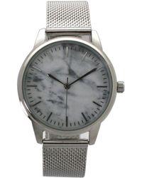 Olivia Pratt Marble Mesh Band Watch - Metallic