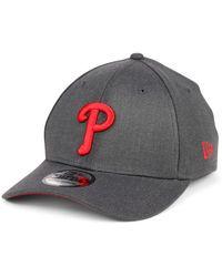 KTZ Philadelphia Phillies Charcoal Classic 39thirty Cap - Gray