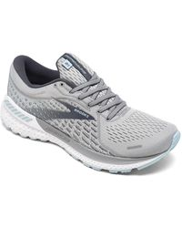 Brooks Adrenaline Gts 21 Running Sneakers From Finish Line - Grey