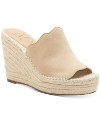INC International Concepts Inc Camile Slide Wedge Sandals, Created For Macy's - Natural