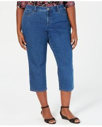 Charter Club Plus Size Capri Jeans, Created For Macy's - Blue
