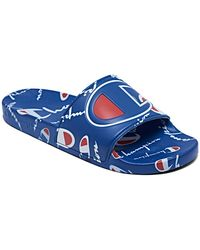 Champion Ipo Warped Slide Sandals From Finish Line - Blue