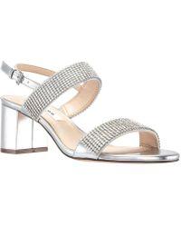 Nina - Naomi Block Heel Sandals - Lyst