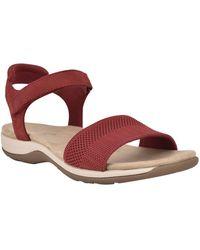 Easy Spirit Shailey Flat Sandals - Red