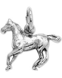 Macy's - 14k White Gold Charm, Horse Charm - Lyst