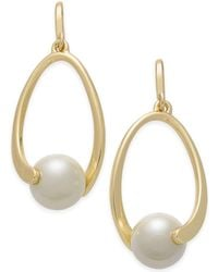 Charter Club - Imitation Pearl Drop Earrings - Lyst