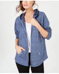 Style & Co. Zip-front Jacket, Created For Macy's - Blue