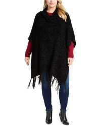 Charter Club Chenille Plus Size Topper, Created For Macy's - Black