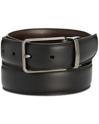 Perry Ellis Reversible Leather Belt - Black