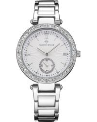 Timothy Stone 'elle' Classic Crystal Accented Bracelet Watch - Metallic