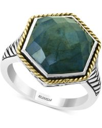Effy Collection - Effy® Labradorite Statement Ring (6-1/3 Ct. T.w.) In Sterling Silver & 18k Gold-plate - Lyst
