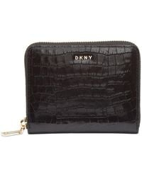 DKNY - Bryant Croc Zip Around Leather Wallet, Created For Macy's - Lyst