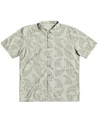 Quiksilver Waterman Fluid Fins Short Sleeve Shirt - Green